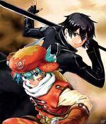 Kite and Kirito New World and Sword Art Online Code Register Crossover 1
