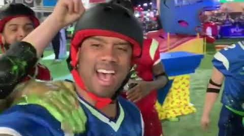 "Double Dare - ""Double Dare at Super Bowl"" Russell Wilson BTS"