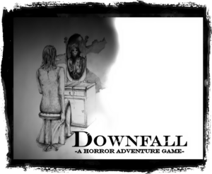 The poster for Downfall - A Horror Adventure Game.