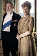 King George V and Queen Mary. Downton Abbey