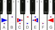 Dozenal piano