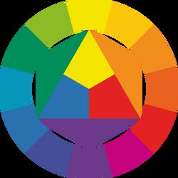 Standard color wheel (with a dozen colors).png