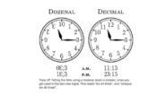 Clocks in dozenal and decimal