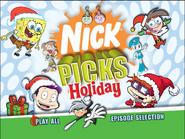 Nick Picks Holiday Main Menu