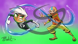 Crossover - Danny vs Aang