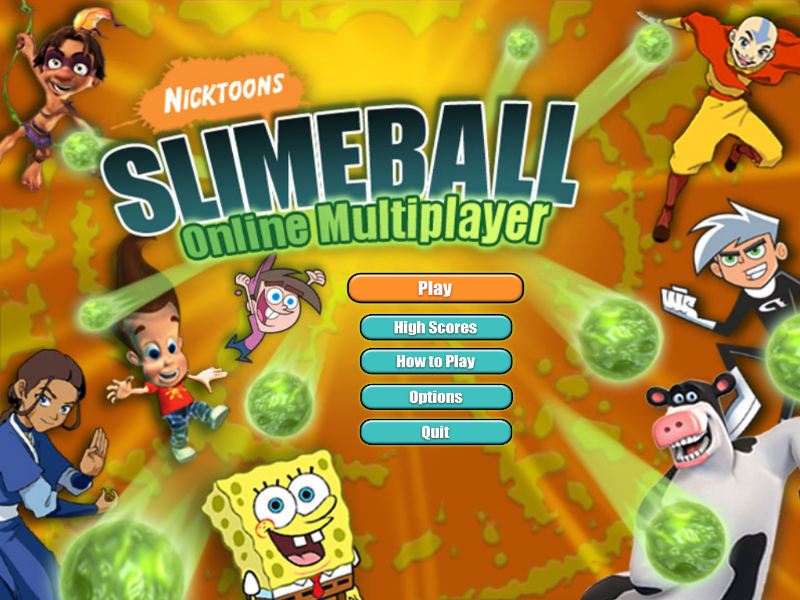 Nicktoons Slimeball Multiplayer