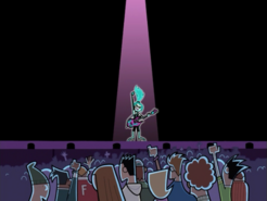 S01e11 Ember on stage