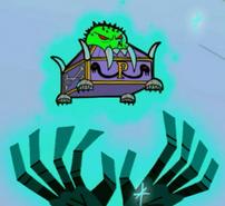 S03e08 Pandora's Box on pedestal