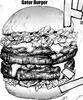 Gator burger