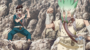 Senku's fearlessness