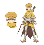 Ukyo Saionji Diseño Anime