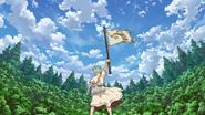 Senku raises the flag