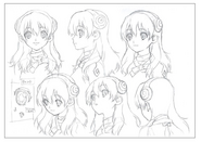 Yuzuriha Head Shading TV Animation Design Sheet