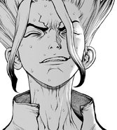 Senku emotional over his friends