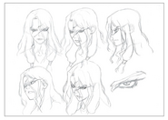 Tsukasa Head Shading TV Animation Design Sheet