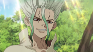 Senku reveals himself to Taiju