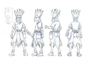 Senku Shading TV Animation Design Sheet