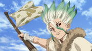 Senku mobilizes the army.png