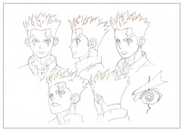 Taiju Head Shading TV Animation Design Sheet