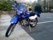DR650 with MRA screen