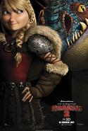 Drachenzähmen 2 Poster Astrid