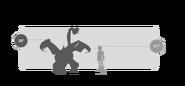 Dreifachstachel Größe