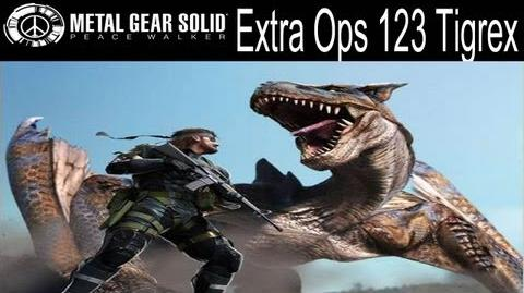 Metal Gear Solid Peace Walker - Extra Ops 123 - Hunting Quest Tigrex
