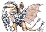 Mecha-King Ghidorah Godzilla Konzept 2