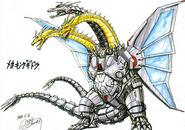 Mecha-King Ghidorah Godzilla Konzept 3