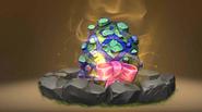 Farbenfroher Sturzflügler Ei