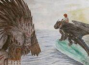 Toothless and bewilderb by jigglypuffsabi-dahtllo