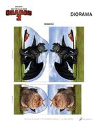 Basteln Diorama Vorlage 4