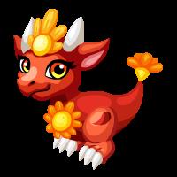 Bold Floral Dragon