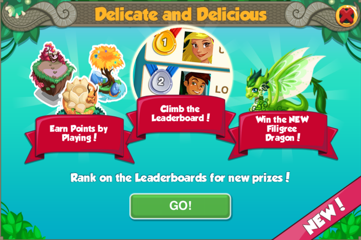 Delicate and Delicious Leaderboard Event