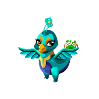 Blue Peacock Dragon