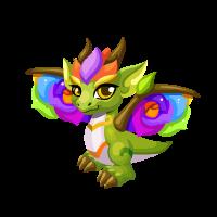 Rainbow Rose Dragon