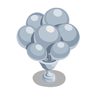 Balloons Silver Trophy