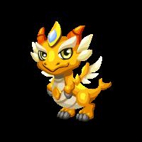 Dragon story gold snowy gold dragon