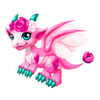 Pink Rose Dragon