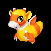 Candy Corn Dragon