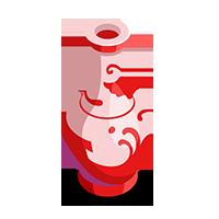 Crimson Vase