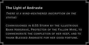 The Light of Andraste Landmark Note