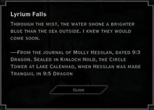 Lyrium Falls Landmark Text