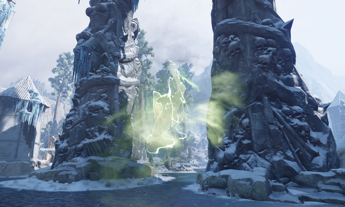 Rift on Frozen Water
