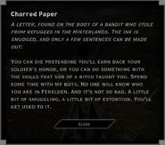 Charred Paper Lone Warden