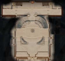 Winter Palace Front Garden Map