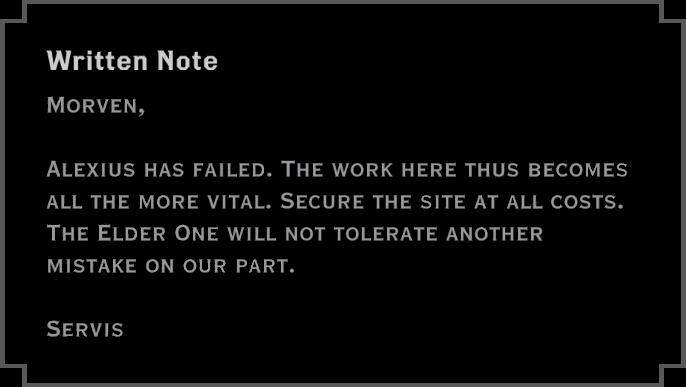 Note: Written Note