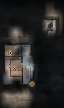 Winter Palace Servants Quarters and Grand Apartments Upper Level Map