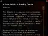 Note: A Note Left by a Burning Candle