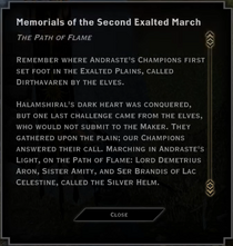 The Path of Flame Landmark Text